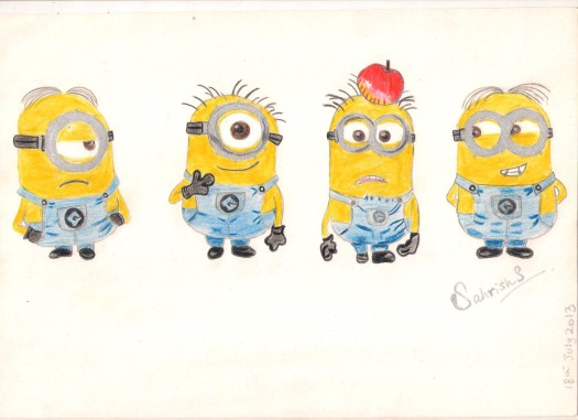 Minion drawing by me