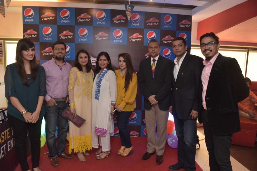 Pizza Hut Team Launch of new Doritos Pizza